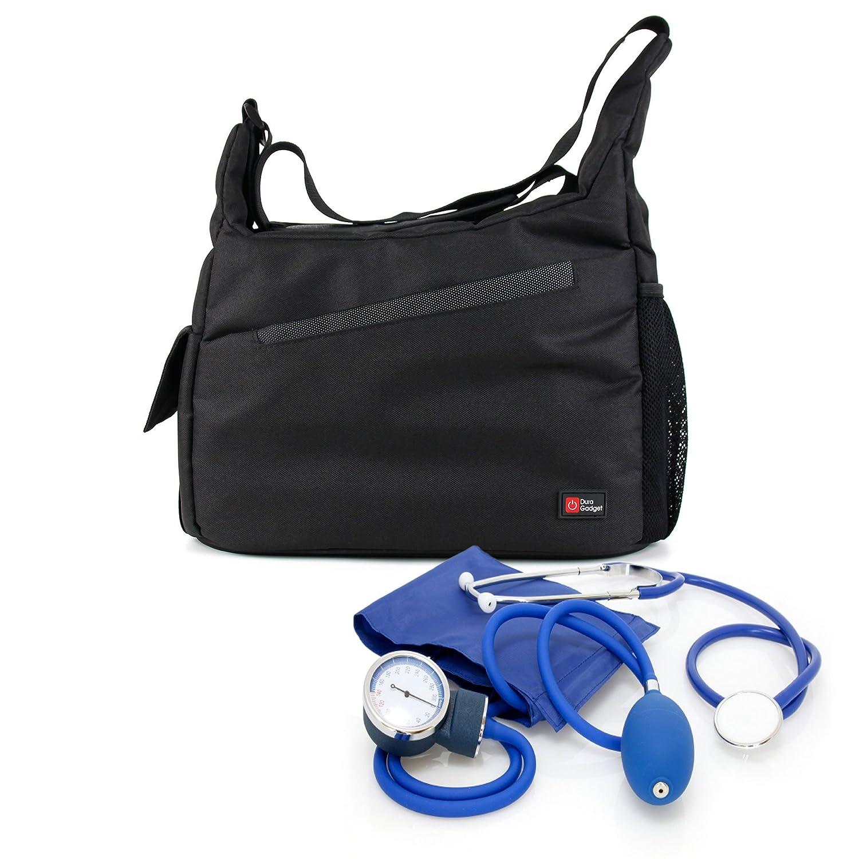 compartiments pour votre mat/ériel m/édical Sacoche de premiers secours pour infirmiers m/édecins noir//orange aide soignants secouristes// pompiers