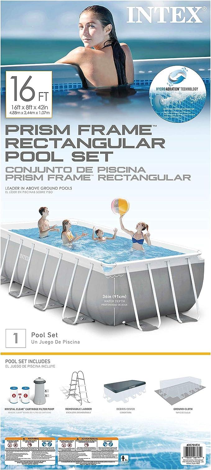 Intex Prism Frame Juego de Piscina con Bomba de Filtro: Amazon.es ...