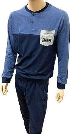 Enrico Coveri Pijama de hombre corto de algodón, pijama de hombre corto de verano