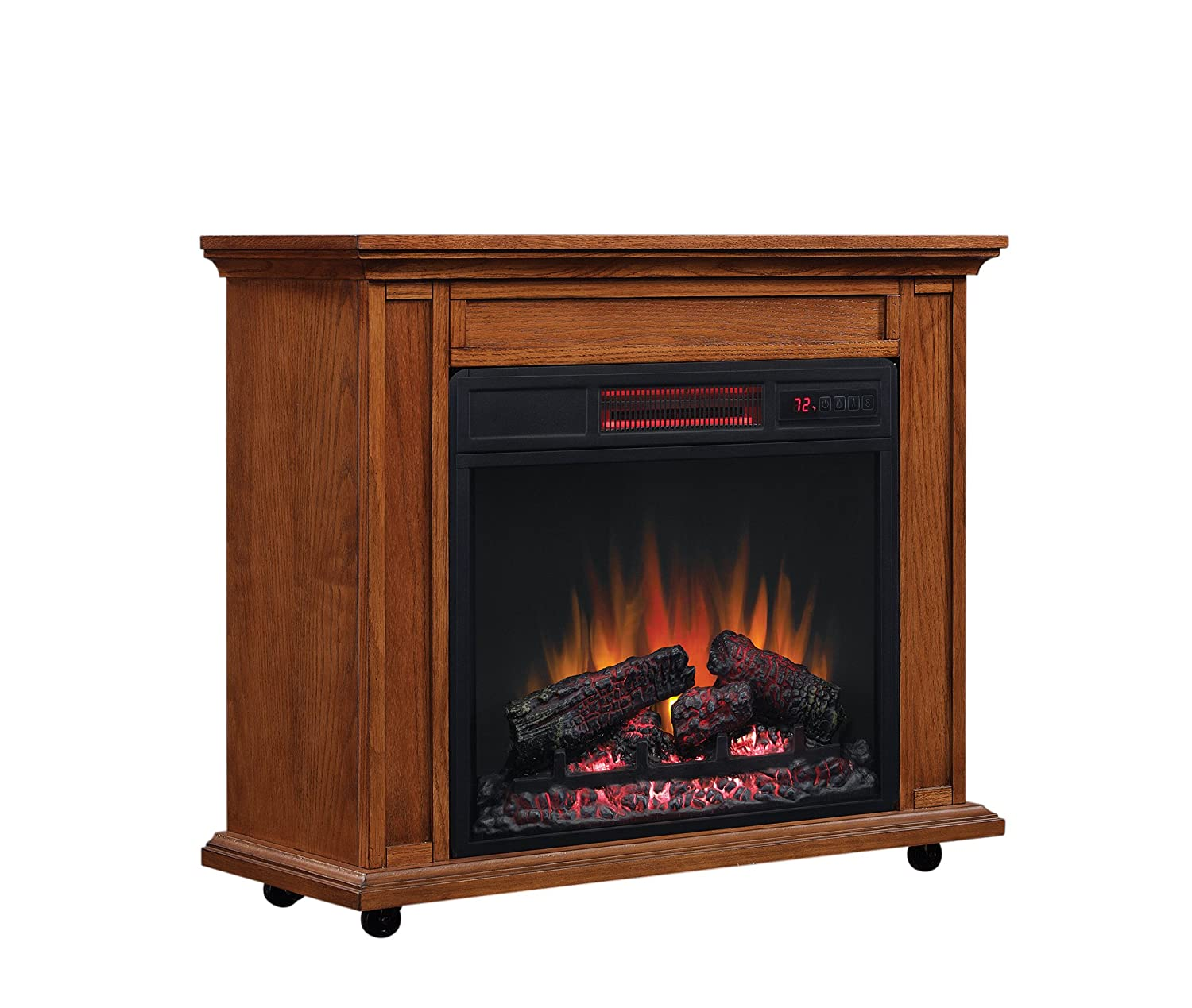 amazon com classicflame 23irm1500 o107 rolling mantel with