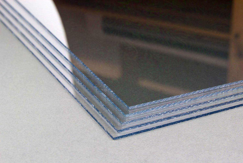 Homedeco-24 2 mm Starkes und stabiles Kunstglas 50 x 100 cm Acrylglas Kunststoffglas Ersatzglas Zuschnitt Polystyrol Klar Transparent