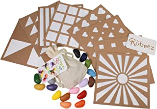 product image for Crayon Rocks, Art Coloring Set, Arts & Crafts for Kids Ages 3 and Up - Includes 8 Eco-Board Templates, 16 Crayons