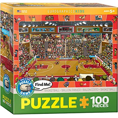 Basketball - Spot and Find Puzzle, 100-Piece: Toys & Games