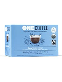 OneCoffee Organic Decaf Swiss Water 72 Count Single Serve Coffee 100% Compostable K Cup for