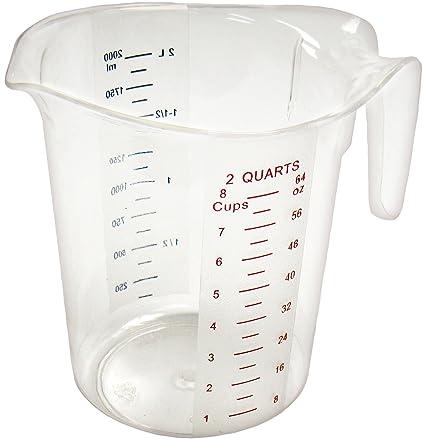 Winco Measuring Cup Polycarbonate 2 Quart