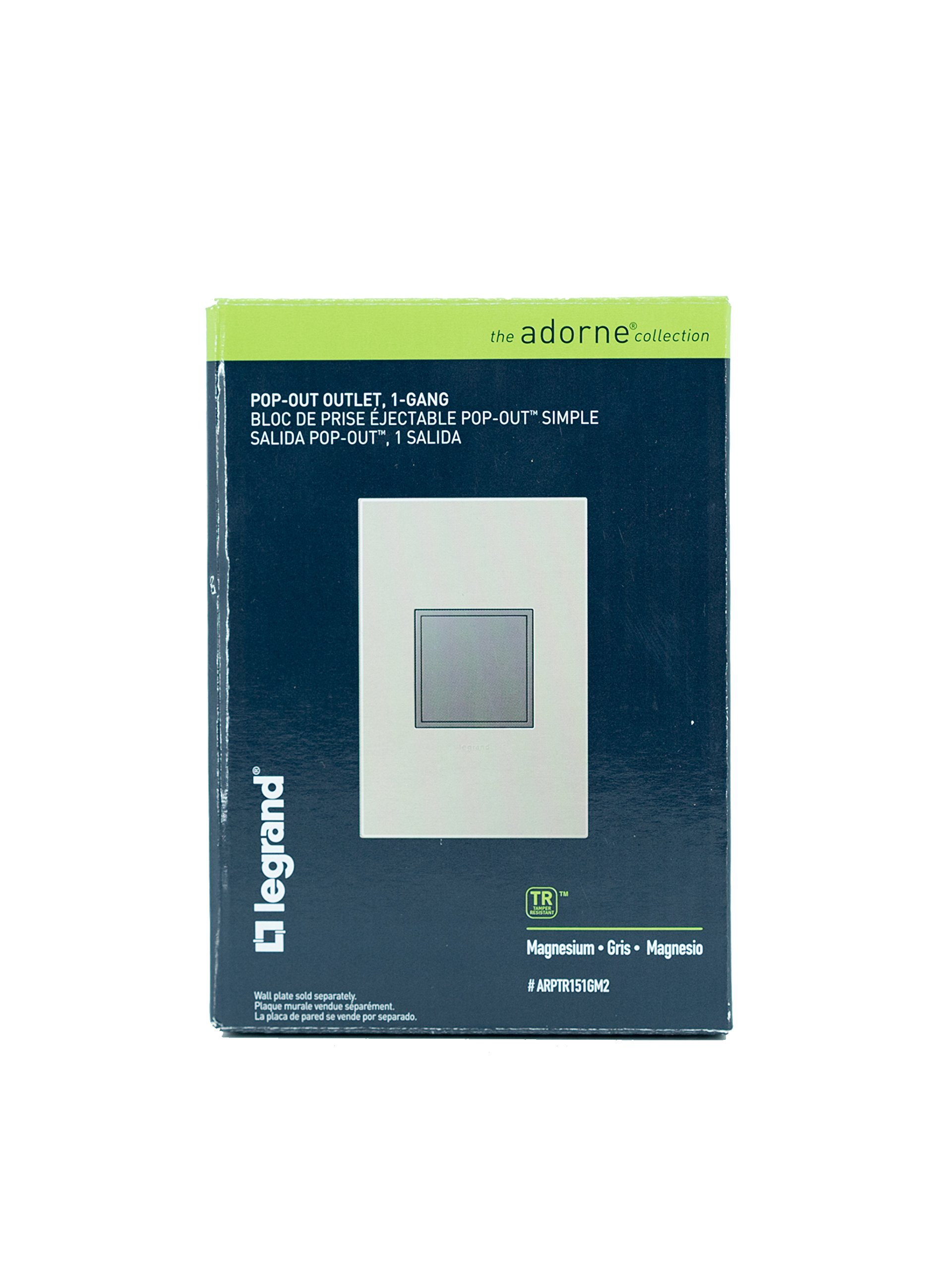 PASS & SEYMOUR ARPTR151GM2 Adorne 1 Gang Magnesium Pop Out Outlet by Pass & Seymour (Image #3)
