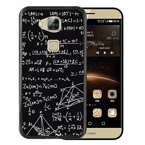 WoowCase Funda Huawei GX8 / G8, [Huawei GX8 / G8 ] Funda Silicona Gel Flexible Fórmulas Matemáticas, Carcasa Case TPU Silicona - Negro