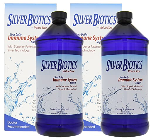 Amazon.com: American Biotech Labs Silver Biotics Immune System Support 32oz Multi Pack (2 Pack): Health & Personal Care