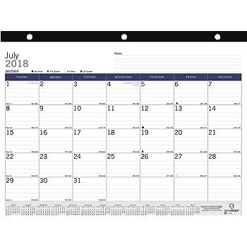 amazon com blueline duraglobe monthly desk pad calendar academic