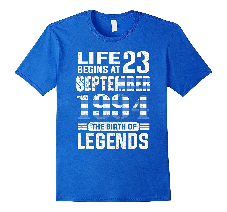 23th Birthday T-Shirt Made in 1994 Life Begins Shirt-FL