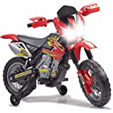 FEBER- 6V Motorbike Cross, 400F, 6 V, Color Negro, Gris,