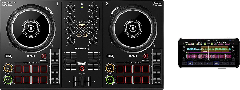Pioneer DJ DDJ-200, Controlador portátil de 2 canales para DJ ...