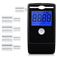 LZHOO Alkoholtester Tragbar Halbleiter Sensor Atemalkoholmessgerät LCD Anzeige Promilletester Alkoholmessgeräte