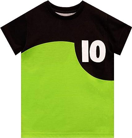 Ben 10 Camiseta de Manga Corta para niños Verde 11-12 Años: Amazon.es: Ropa y accesorios