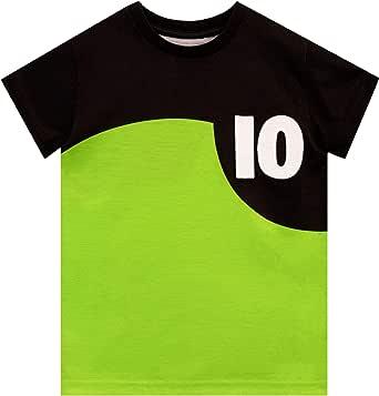 Ben 10 Camiseta de Manga Corta para niños