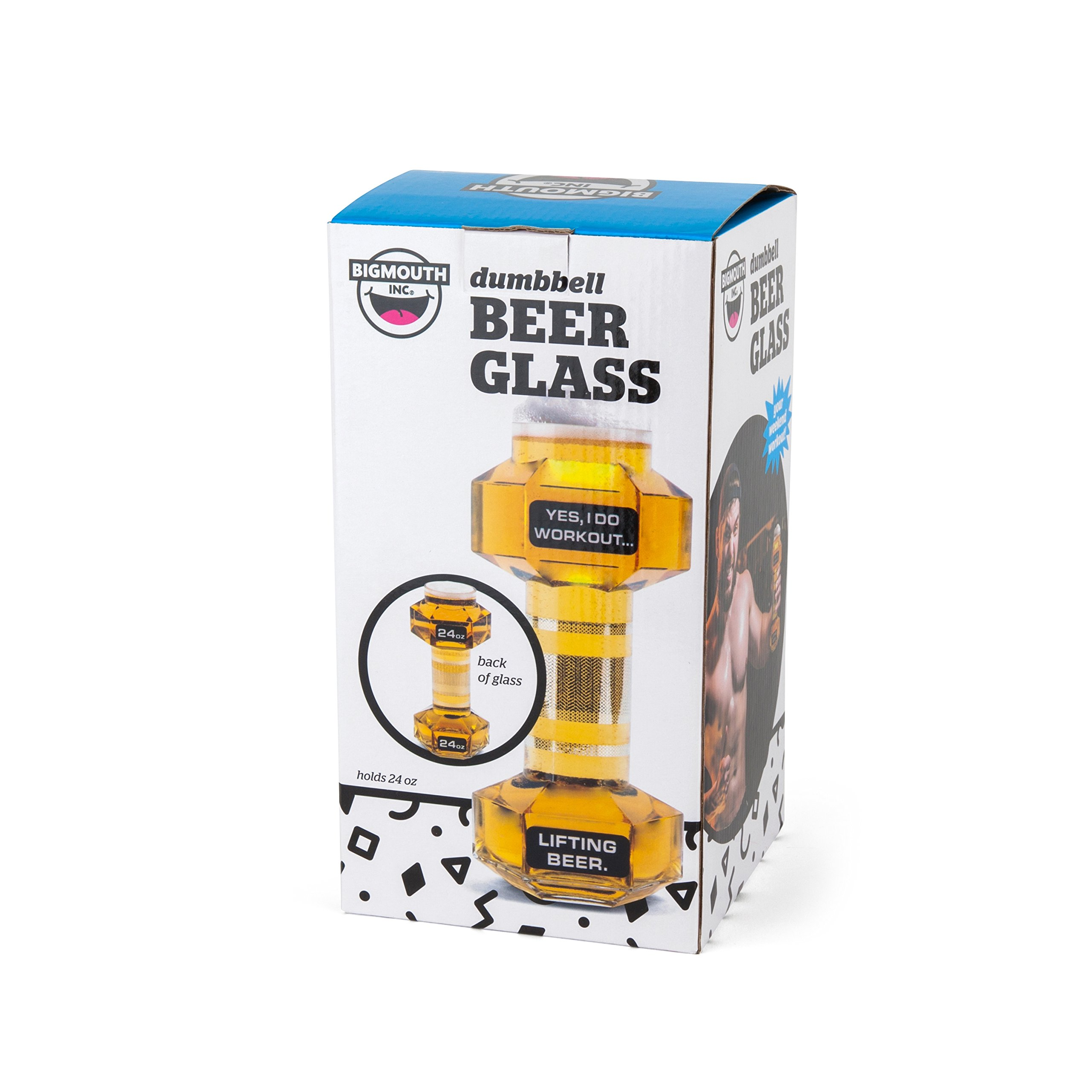 BigMouth Inc Dumbbell Beer Glass, Great Gag Gift for Weight Lifters, Exercise Fanatics, Made of Glass by BigMouth Inc (Image #4)