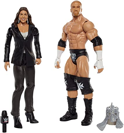 WWE Triple H and Stephanie Mcmahon Figure 2 Pack Toy Figures at amazon