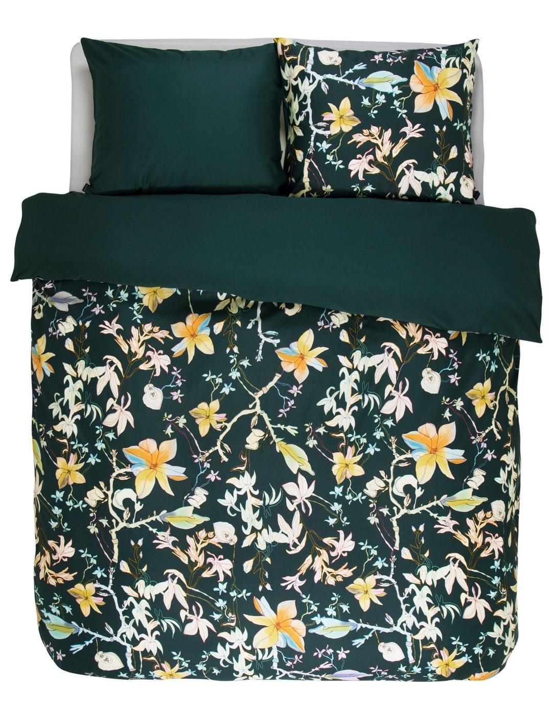 Essenza Satin-Bettwäsche Brohna, Farbe Grün 155x220cm+80x80