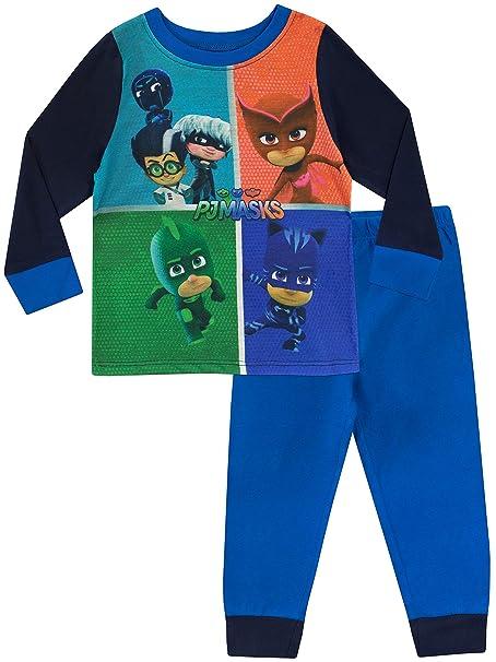 PJ Masks Pijama para Niños Azul 18-24 Meses
