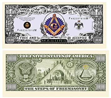 Freemason - Masonic Million Dollar Bill 10 Count Novelty