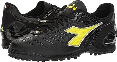 1de06a8c6 Diadora Maracana 18 TF Men's Turf Soccer Shoe (6.5, Black/Fluo Yellow)