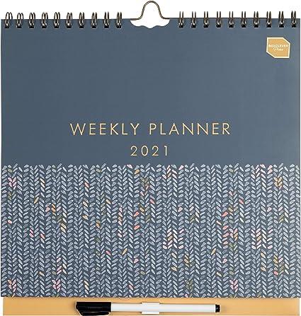 Boxclever Press Weekly Planner (en inglés). Calendario 2021 pared con un espacio grande para cada día. Planificador semanal con 16 meses comienza ahora y se extiende hasta diciembre21.: Amazon.es: Oficina y papelería