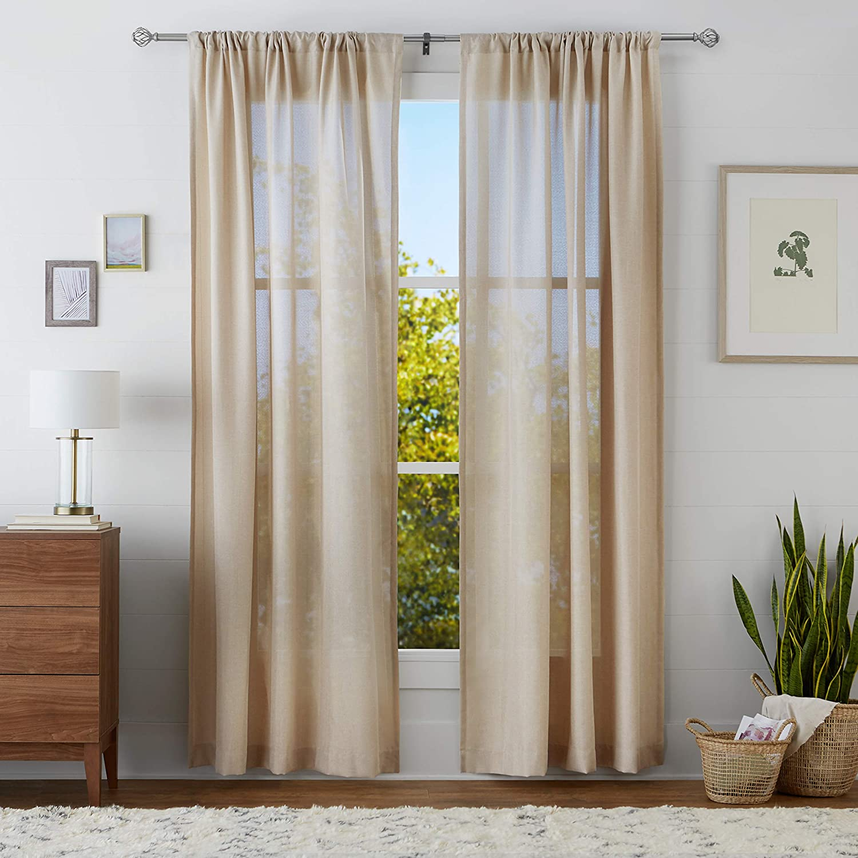 Basics Lattice Cage Curtain Rod Finials Set of Two Black