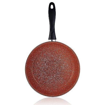 Magefesa Terracota - Set Juego 3 Sartenes 18-20-24 cm, inducción, antiadherente GRANITO libre de PFOA, limpieza lavavajillas apta para todas las cocinas, ...
