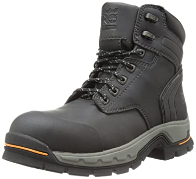 Timberland PRO Men's 6 Inch Stockdale Grip Max Alloy Toe Work and Hunt Boot,  Black
