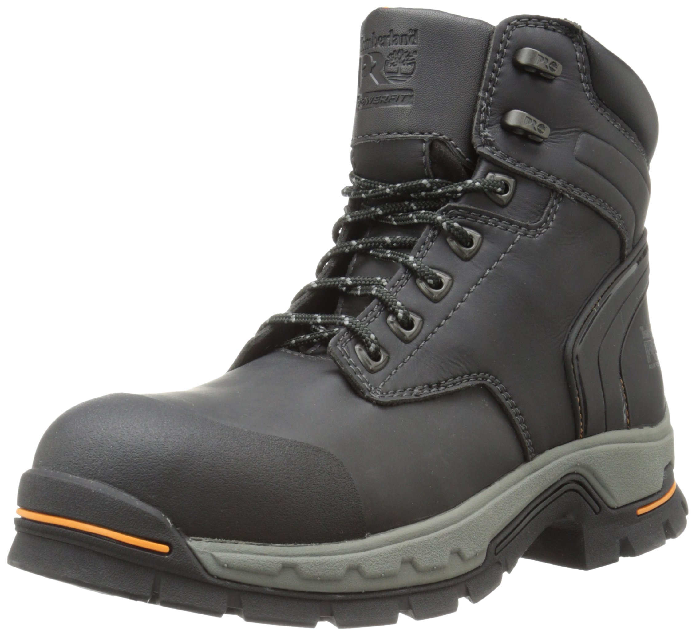 Timberland PRO Men's 6 Inch Stockdale Grip Max Alloy Toe Work and Hunt Boot, Black Microfiber, 4.5 M US by Timberland PRO