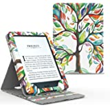 Moko Etui Amazon Kindle Paperwhite - étui de Retournement Vertical pour Amazon Kindle Paperwhite avec Rétro-éclairage (Convient à Tous Les Modèles: 2012,2013,2015 et 2016), Arbre Coloré