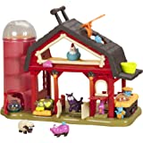 B Toys – Baa-Baa-Barn Musical Farm Set – Interactive Animal Farm with 4 Animals and 2 Rattle Balls for Kids 2+ (7pcs)