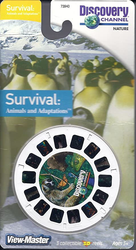 View-Master 73940 3 Reel Set Discovery Channel Survival Animals /& Adaptations