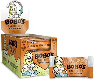 product image for Bobo's Oat Bars (Peanut Butter, 12 Pack of 3 oz Bars) Gluten Free Whole Grain Rolled Oat Bars - Great Tasting Vegan On-The-Go Snack, Made in the USA