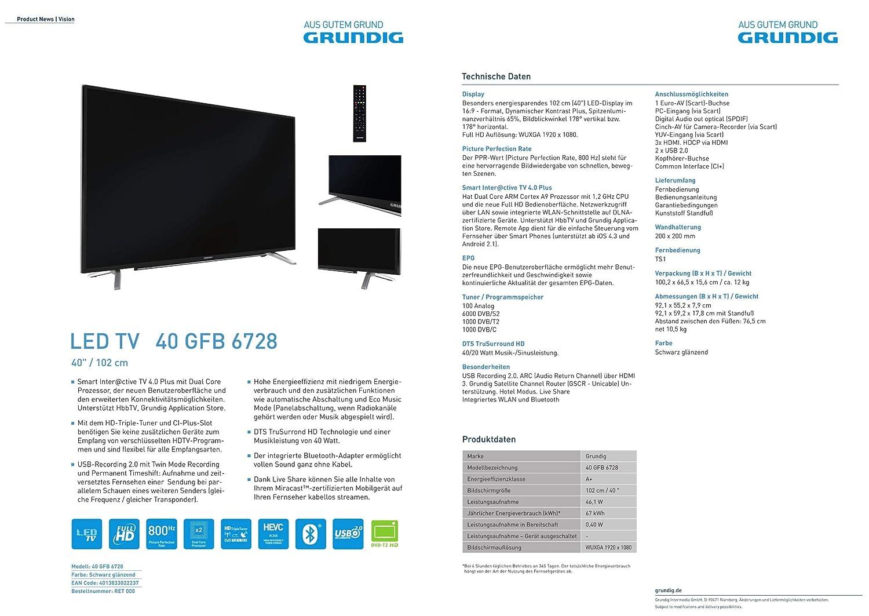 Grundig Intermedia 40GFB6728 102 cm (40 Zoll) LED