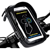 LEMEGO Bike Bag Cycling Top Tube Handlebar Holder Waterproof Pouch Bicycle Phone Mount 360 Degrees Rotatable with Water Resistant Zipper for GPS iPhone X 8 7 6 6S Plus Samsung Galaxy S8 S7 Edge S6 Edge Plus S6 LG HTC Sony Smartphones up to 6''