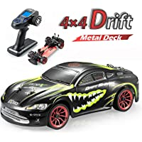 GPTOYS Racing Drift RC car Electric Remote Control car for Adults 2.4Ghz LCD Controller 4WD RTR Metal Body 360° Rotating