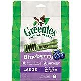 Greenies Blueberry Dental Chew Large Dog Treats, Adult, 340g, 8 treats