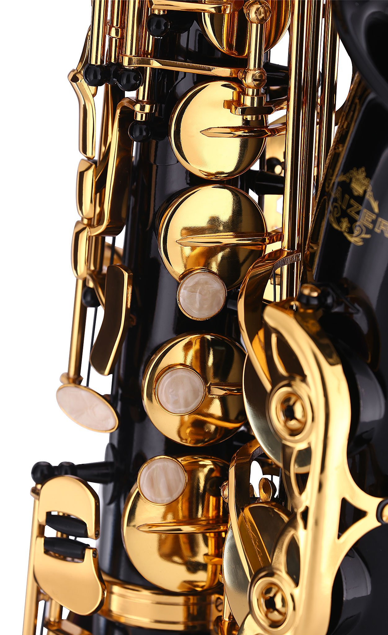 Kaizer Alto Saxophone E Flat Eb Black Lacquer Body Gold Keys 1000 Series Sax Includes Case Mouthpiece and Accessories ASAX-1000BKGK by Kaizer (Image #6)