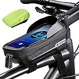 whale fall Waterproof Bike Frame Bag Bike Phone Bag Bicycle Cell Phone Holder for GPS - Bicycle Bag Frame Hard Eva Navi Press