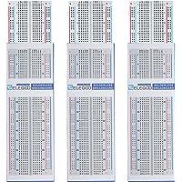 ELEGOO 3pcs Breadboard Carte d'Expérimentation 830 Points Tie-Point sans Soudure - Platine d'Essai MB-102 Carte Circuit Imprimé PCB pour Arduino et Raspberry Pi