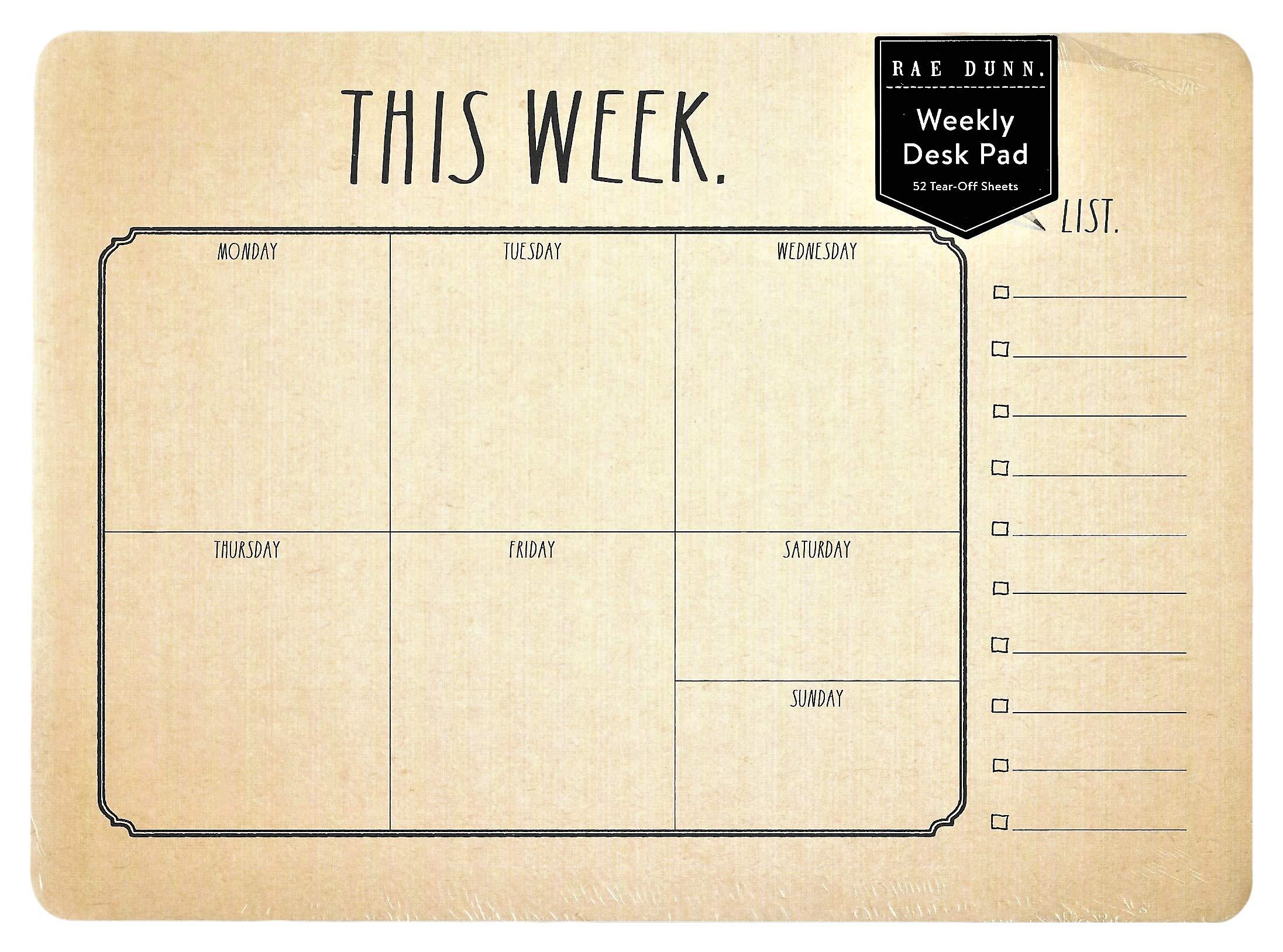 Rae Dunn Weekly Desk Calendar This Week