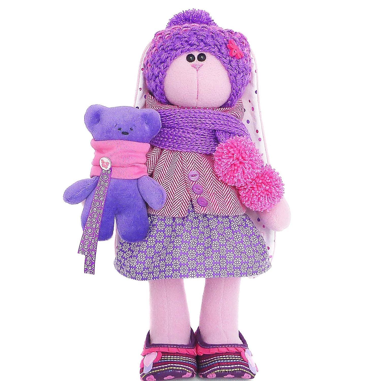 handmade fabric doll Stuffed rabbit 14 inch for girl Easter bunny