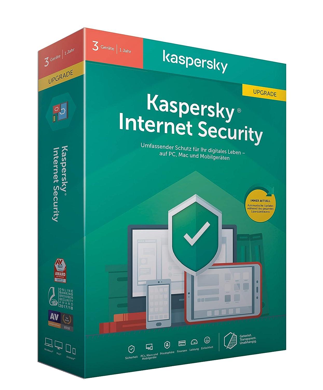 Kaspersky Internet Security 3 Geräte Upgrade (Code in a Box). Für Windows 7/8/10/MAC/Android