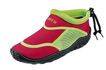 BECO Badeschuhe / Surfschuhe für Kinder rot/grün 20