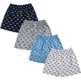 The Cotton Company Men's Cotton Printed Boxers (Pack of 4)