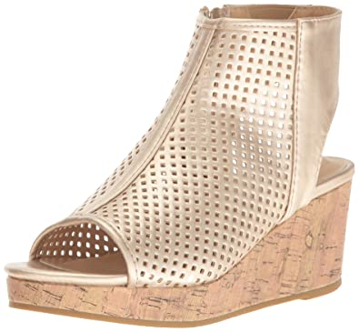029e76ee9e Kenneth Cole REACTION Girls' Corrine Charlo Wedge Dusty Gold 11 M US Little  Kid