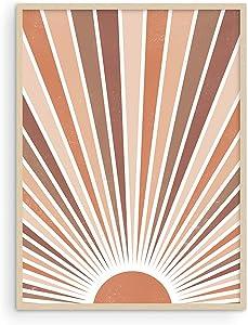 Haus and Hues Boho Art Print Sun Wall Decor - Sun Art Print Boho Art Wall Decor | Boho Poster and Print Wall Decor Boho Wall Art Print Boho Rainbow Decor | 12