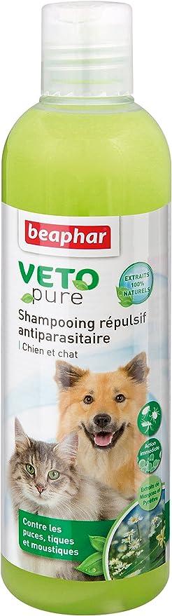 Beaphar Anti-Parásito vetopure Champú Repelente para Perros y Gatos – 250 ml: Amazon.es: Productos para mascotas