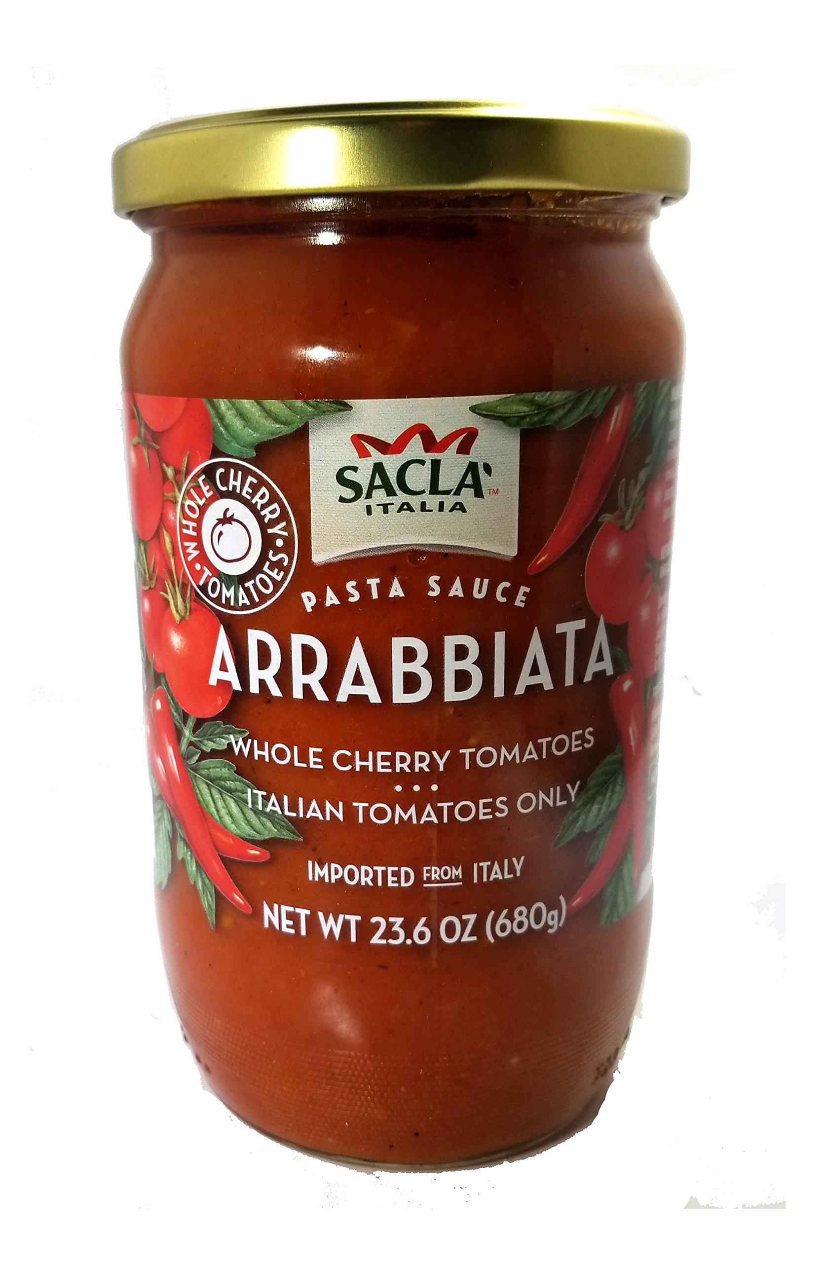 All Natural Whole Cherry Tomato Arrabbiata Pasta Sauce NON GMO. Imported From Italy- 2 Jars